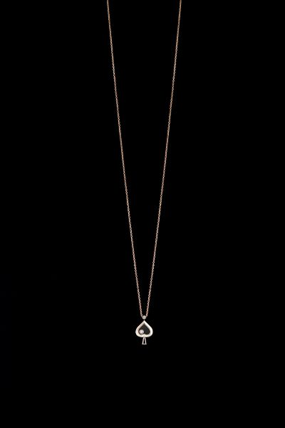 Rose Gold Pendant with Diamonds