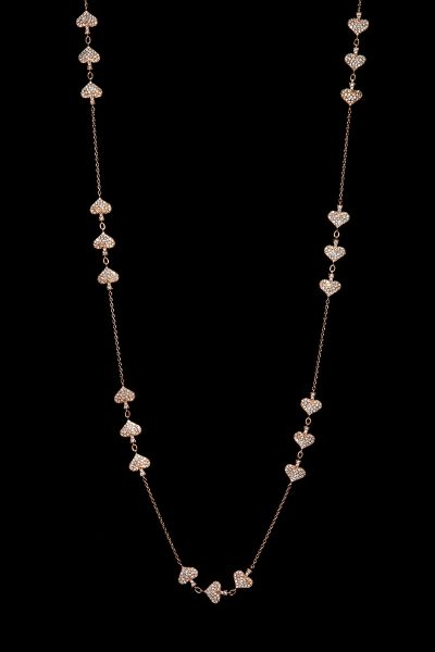 Rose Gold Necklace with Diamonds